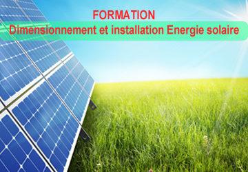 DIMENSIONNEMENT ET INSTALLATION EN ENERGIE SOLAIRE